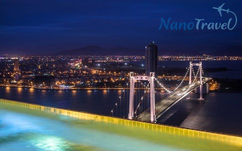 Góc view cầu thuận phước từ Golden Bay