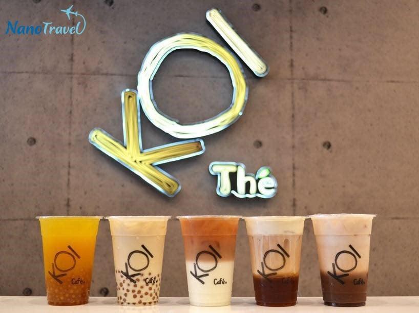 Những ly trà sữa hấp dẫn tại KOI